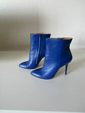 Maison Martin Margiela Blue Leather Ankle Boots Size 36 Made in Italy