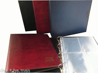 GUARDIAN POSTCARD ALBUM & SLEEVES, OPTION TO INCLUDE SLIPCASE - GREEN, BLUE, RED