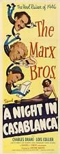 NIGHT IN CASABLANCA Movie POSTER 14x36 Insert Groucho Marx Harpo Marx Chico Marx