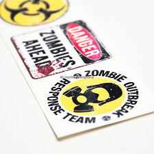 3x Set Zombie brote Gracioso Laptop, Tablet, Ipad, Skate, Casco Pegatinas De Vinilo