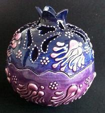 Turkish Ceramic Pomegranate Delight Bowl Porcelain Ottoman Embossed Handmade-1