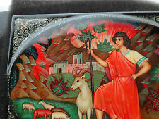 Superb  Russian handpainted box  Bible story Joseph