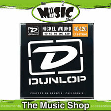 New Set of Dunlop 40-120 5 String Nickel Wound Bass Guitar Strings  - Light