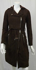 VERONICA DAMIANI SUEDE DK BROWN COAT V-9351-34 UK 6 ITL 38