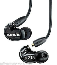 NEW - SHURE SE215-K SOUND ISOLATING PRO EARPHONES, DJ MONITORING EARBUDS / BLACK