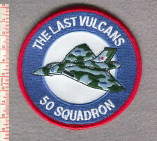 "ROYAL AIR FORCE 50 SQUADRON ""THE LAST VULCANS"" PATCH."