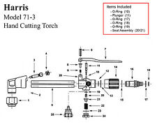 Harris Model 71-3 Cutting Torch Rebuild/Repair Parts Kit