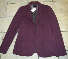 BONITA German Designer Great Quality Wine Colour Jacket Size 16 RRP EUR 130 £100