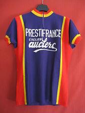 Maillot cycliste Vintage Prestifrance Cycles Auclerc Violet années 70 jersey - M
