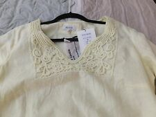Women's Linen Tunic  top by Malvin of Hamburg Germany size L