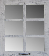 NEW RUSTIC FARMHOUSE DISTRESSED BARN WOOD RECLAIMED WINDOW 6 PANE MIRROR DECOR