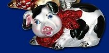 *Country Piggy - 2 Colors* Pig [12213] Old World Christmas Glass Ornament - NEW