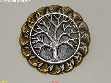 steampunk brooch badge pin silver tree of life Harry Potter Abzeichen Brosche
