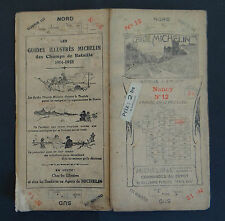 Carte MICHELIN old map NANCY METZ circa 1920 Bibendum pneu tyre