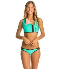 NWT BODY GLOVE NEO'S WHAT NEOPRENE PERFECTO LAGOON REVERSIBLE CROP VEST BIKINI M