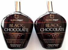 Lot of 2 Black Chocolate 200X Black Bronzer Tanning Lotion Brown Sugar Tan Inc.