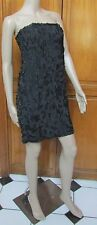 French Connection Black Strapless Uniquely Beaded Dress Size 2