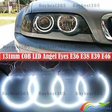 BMW E38 E39 E46 3 5 7 Series Xenon Headlight COB LED Angel Eyes Halo Rings Kit