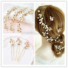 Fashion Golden Leaves Head Decor Wedding Bridal Hair Pieces Hair Accessory