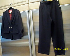 Two piece Suit MONDI The Company Pants & Blazer Jacket Size 10/12 Euro 42 Navy