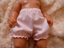 "BJB dolls clothes, Pale pink knickers pants fit 18"" baby born doll"