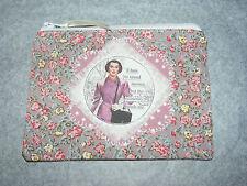 Retro Fun 1950's Housewife Fabric Handmade Coin Purse/ Make up