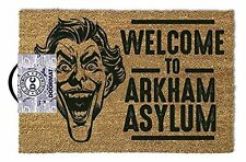 DC Batman Joker Welcome To Arkham Asylum Doormat Door Mat