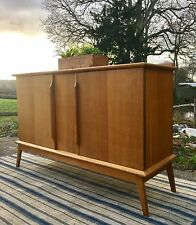 Vintage Retro Danish Light Oak Sideboard Cabinet Mid Century