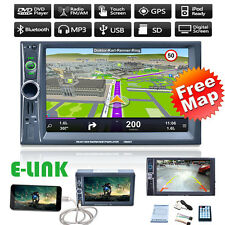 "GPS Navi 7"" Autoradio Touch Bluetooth Stéréo MP3 MP5 Player AUX/USB/Remote 2DIN"