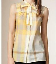 BURBERRY Saffron Yellow Check Shirt Top Tunic Blouse Sz.XL