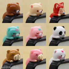 Hot  Cute Animals 3.5 mm Dust Anti Earphone Jack Plug Cap For iPhone Cell Phone