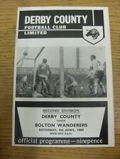 05/04/1969 Derby County v Bolton Wanderers  (slight creased). Unless previously