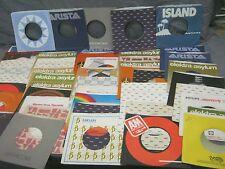 75 COMPANY SLEEVES FOR 70s - 80s 45 RPM RECORDS - ROCK PSYCH SOUL R&B JAZZ POP