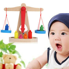 1 Set Balance Scale Toy Montessori Educational Toy Baby Early Development WB