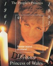 DIANA PRINCESS OF WALES THE PEOPLE'S PRINCESS SCOTLAND 1997 MNH STAMP SHEETLET