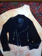 AMERICAN EAGLE OUTFITTERS NAVY WOOL/ RAYON ZIP UP JACKET SIZE S/P