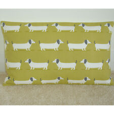 "20""x12"" Oblong Bolster Cushion Cover Dachshunds Sausage Dog Dachshund Dogs Ochre"