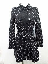 Women's Ralph Lauren Small Polka Dot Double Breasted Trench Coat MSRP: $220 X123