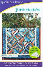 Cozy Quilt Designs D Stout Strip Club Pattern for 2 1/2 in. Strips Intertwined
