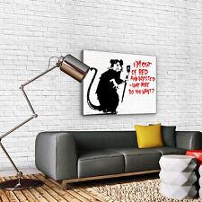 Canvas Foto Wandbild Leinwandbild Bild Poster BANKSY STREET ART RATTE 3FX2033O1