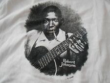 R CRUMB ORIGINAL T Shirt ROBERT JOHNSON PSYCH Art BLUES FOLK COUNTRY COMIC BOOK