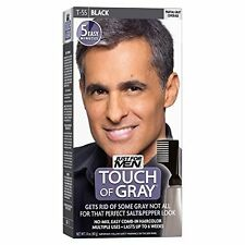 5 Pack - JUST FOR MEN Touch of Gray Hair Treatment T-55 Black 1 Each