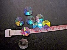 8pcs Round Faceted Drilled Crystal Glass Prism Beads