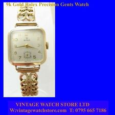 Vintage Rolex Precision  Mint 9k Gold Ladies Wrist Watch 1964