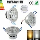 Dimmable 9W 12W 15W LED Downlight kit Recessed Ceiling Light Lamp Bulb+Driver CA