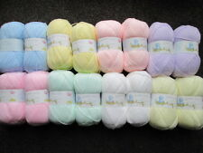 16 x 100g  balls of james brett baby dk mixed pastel colours of yarn/wool