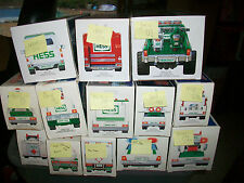 Lot of 13  Hess Trucks 1989-90-2000-04,05 2007
