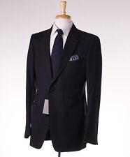 NWT $4590 TOM FORD 'Base V' Black Subtle-Woven Wool Suit Slim 42 L (Eu 52L)