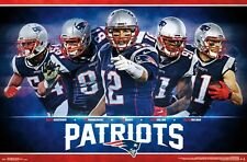 NEW ENGLAND PATRIOTS - TEAM POSTER - 22x34 NFL FOOTBALL TOM BRADY 15023