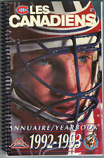 Les Canadiens Annuaire / Yearbook 1992 - 1993 Stanley Cup Championship Season